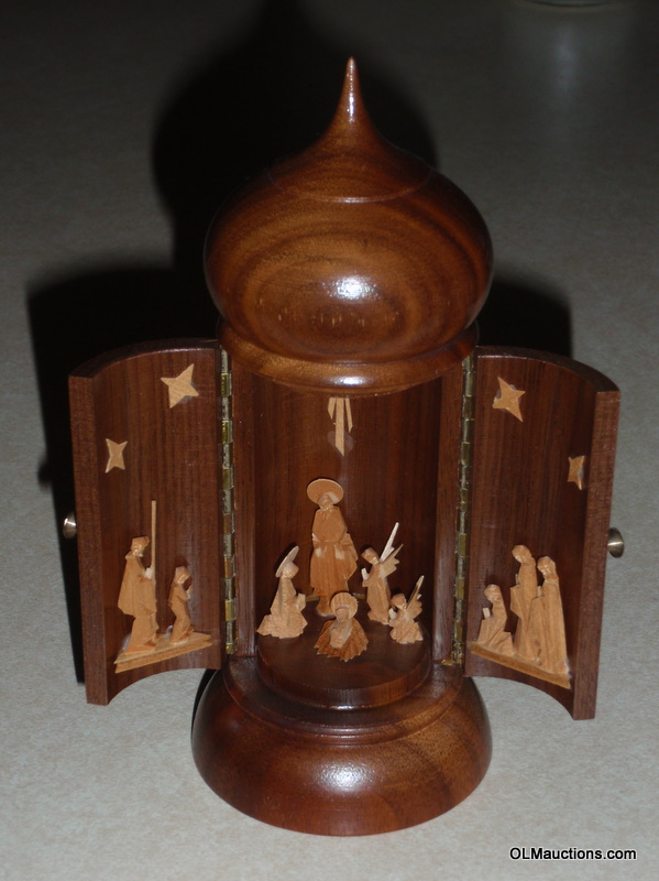 Scroll Saw Woodworking & Crafts - 12 Piece Intarsia Nativity Set