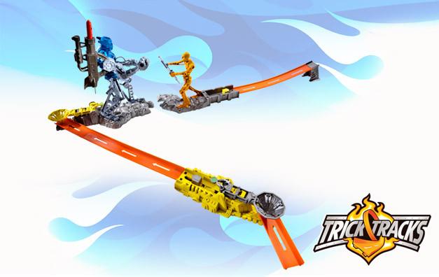 ... : HOT WHEELS Trick Tracks Yarış Seti - Robot Patlaması- R1682