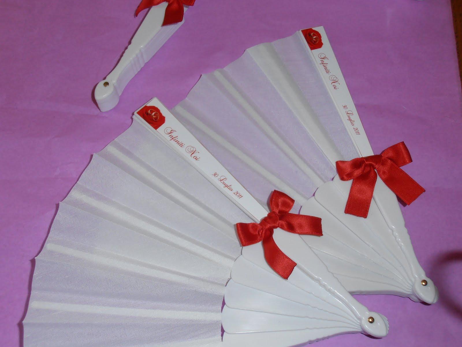 Ben noto Le Creazioni di Valery: Ventagli Matrimonio in Rosso RM47