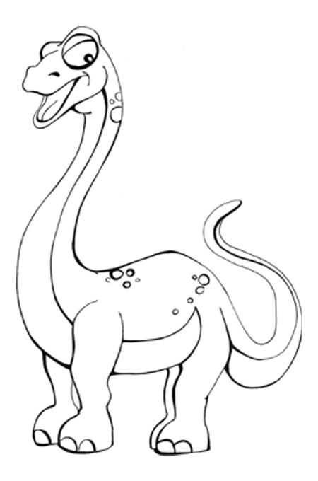 ديناصور لتلوين الاطفال في صورة مفرغة