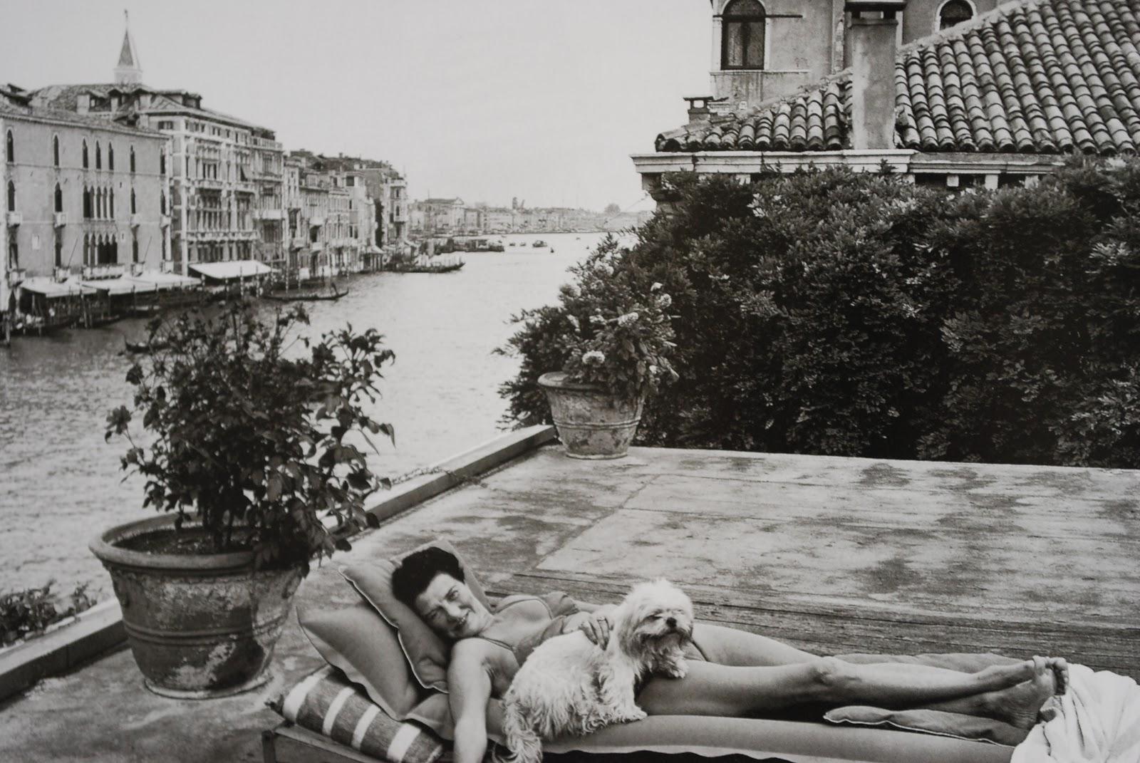Peggy Guggenheim in Venice 1953 | Herringbone: herringbonemallord.blogspot.com/2011/12/peggy-guggenheim-in-venice...