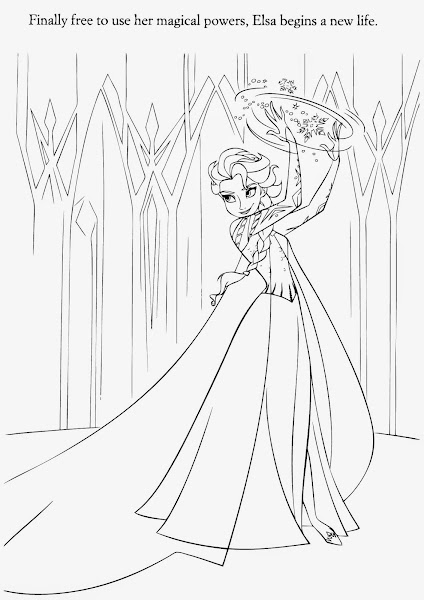 Disney Frozen Elsa And Anna Coloring Pages
