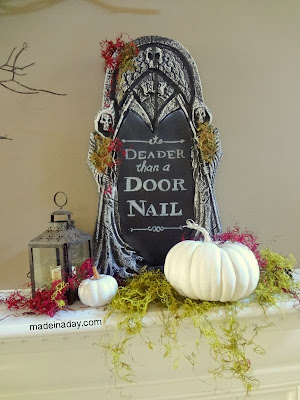 chalkboard tombstone DIY