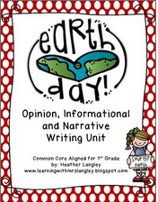 https://www.teacherspayteachers.com/Product/Earth-Day-Writing-Unit-First-Grade-1195314
