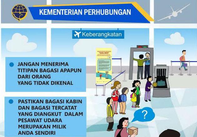 Kemenhub: Waspada Terima Titipan Barang Orang Lain di Bandara