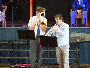 Steven Pittman and Mr Caine Wager Entertaining the Assembly