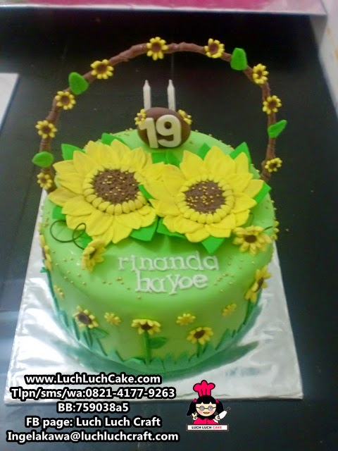 Kue Tart Bunga Matahari Daerah Surabaya Sidoarjo (Repeat Order)