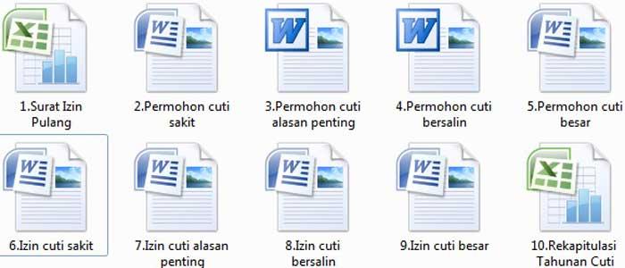 Contoh File Surat Izin Cuti Mengajar