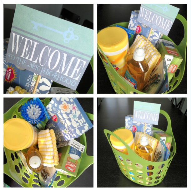New neighbor gift basket ideas and free printable