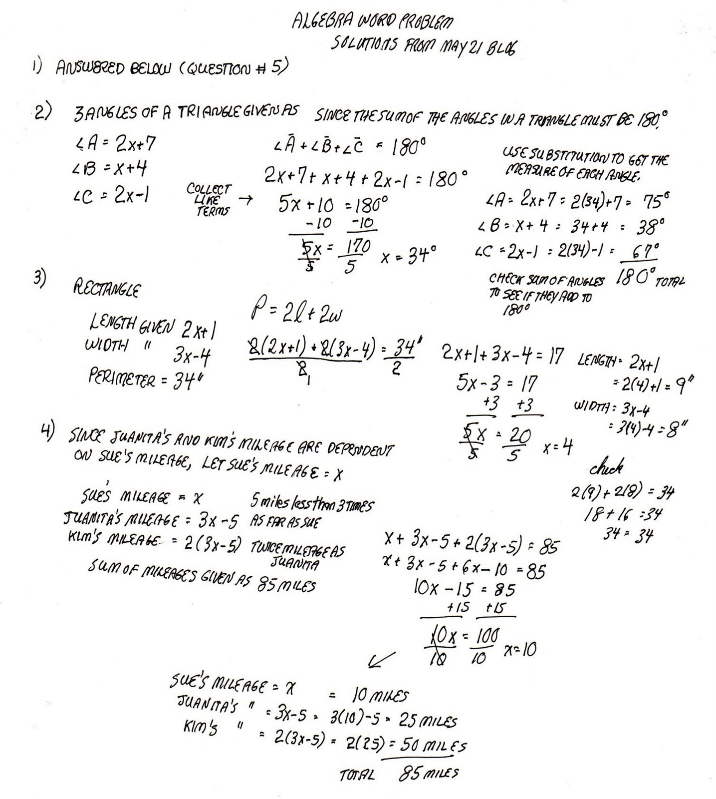 cobb adult ed math solutions to st algebra word problems solutions to 21st algebra word problems