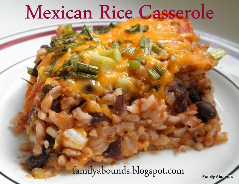 Family Abounds: Mexican Rice Casserole