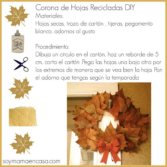 corona para puerta -adorno Otoñal DIY