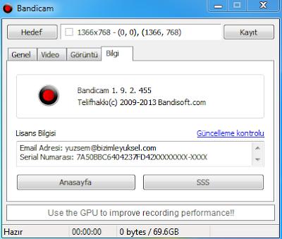 Bandicam 1.9 Full İndir