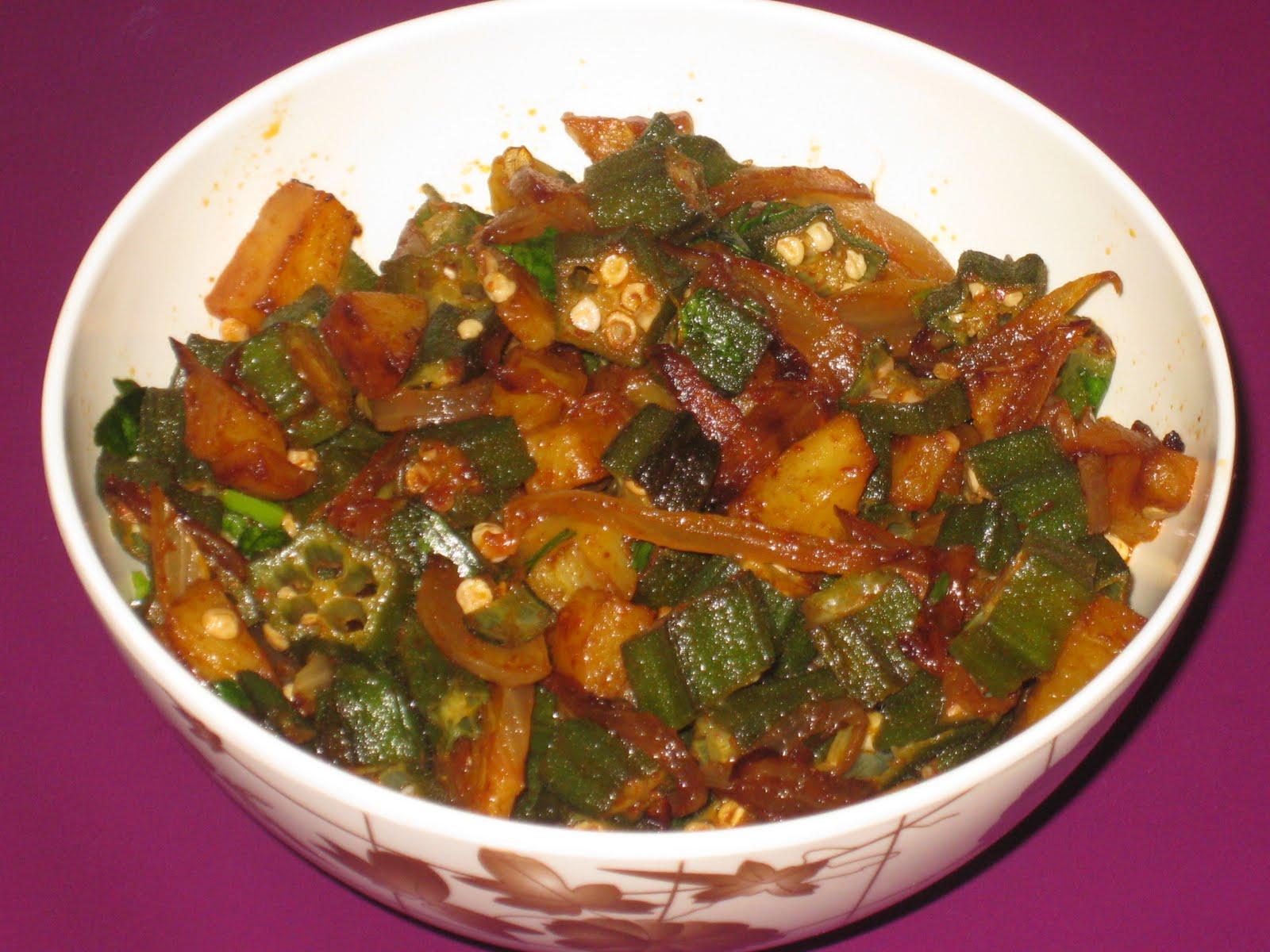 My delicacy bhindi aloo fry oriya style my delicacy forumfinder Image collections