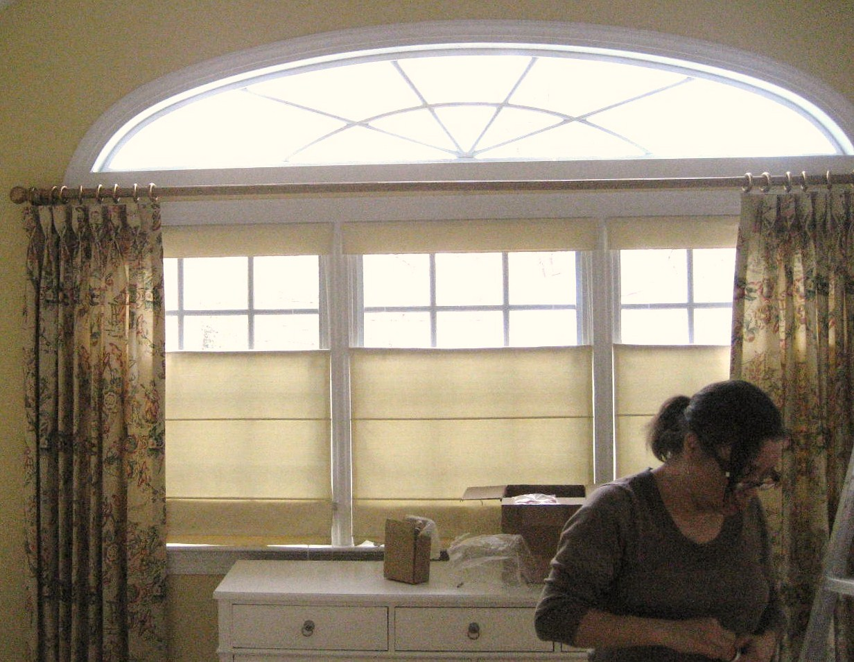 custom made top down bottom up roman shades