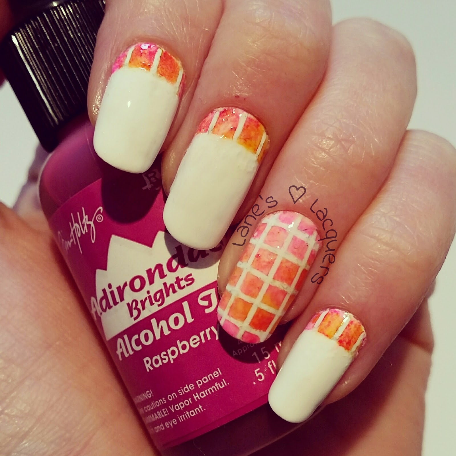 pink-orange-mosaic-ruffian-alcohol-ink-nail-art (2)
