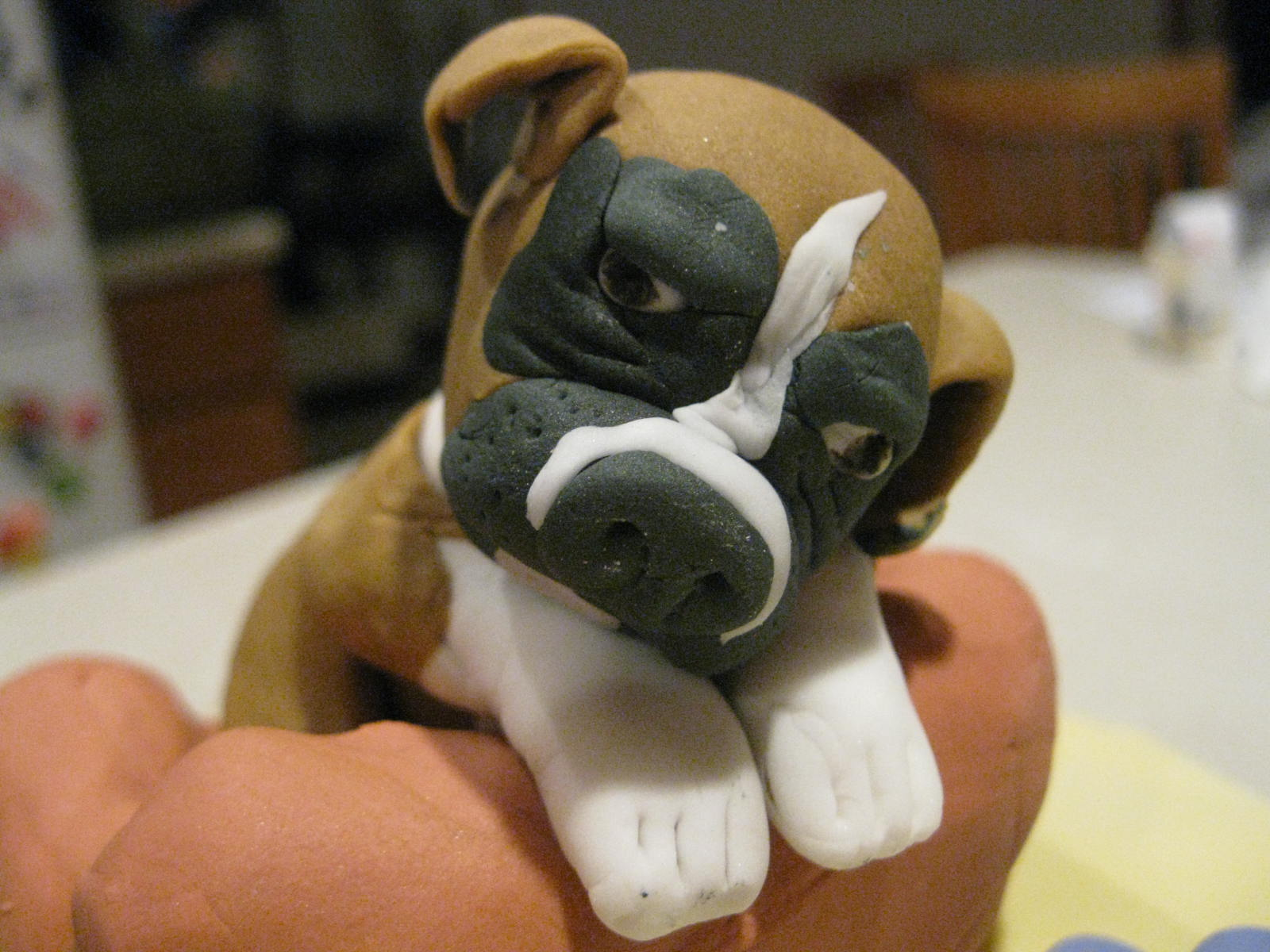 Boxer Dog Cake Pops