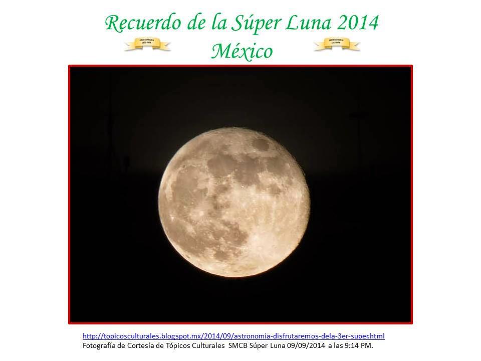 Recuerdo de Súper Luna