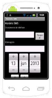 Horário SMS - Agendando um SMS
