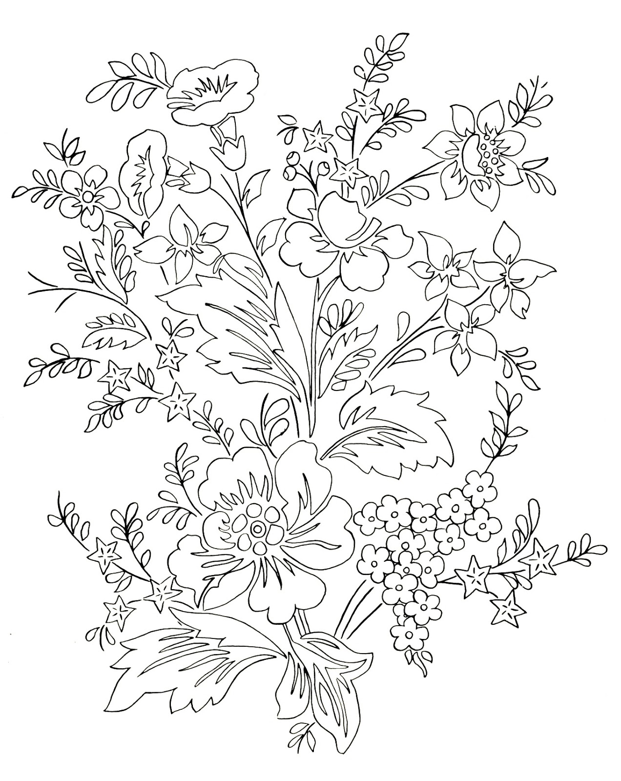 Beautiful Flower Line Drawing : Digital two for tuesday beautiful flowers