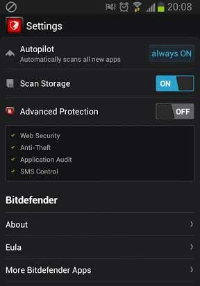 Bitdefender Antivirus Free Settings