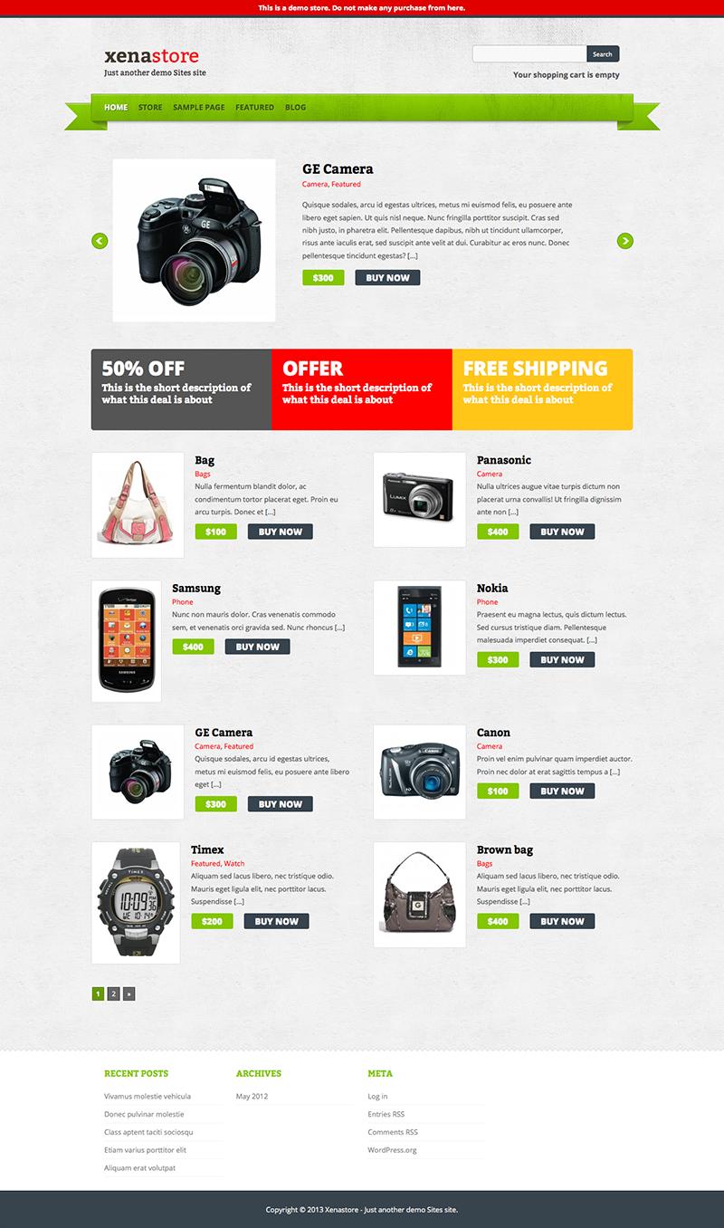 10 Free e-Commerce WordPress Themes 2013 - DezignHD
