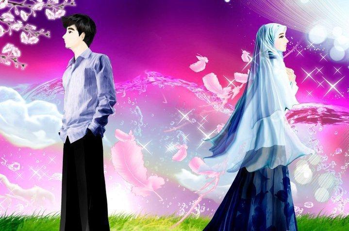 Gambar-gambar Cinta islami Romantis Unik