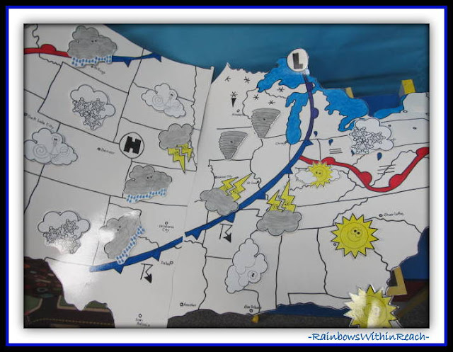 Weather Map of the Country in Kindergarten Classroom