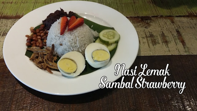 Nasi lemak sambal strawberry