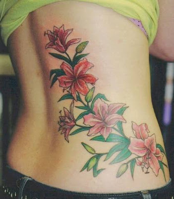 Back Body Flower Tattoos For Girls