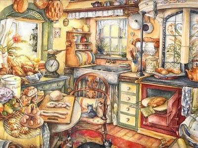 Los gr ficos del gato decoupage cocina - Laminas para cuadros de cocina ...
