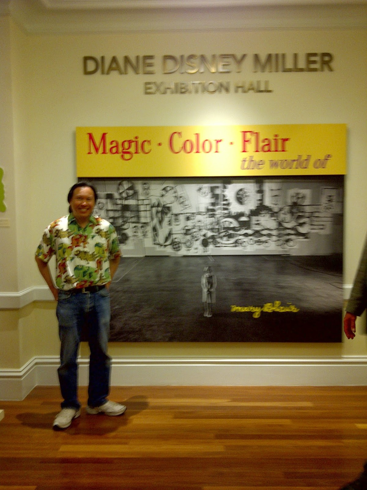 The exhibit is held in the annex building in the recently renamed diane disney miller exhibition hall the layout of the exhibit uses color and flair to