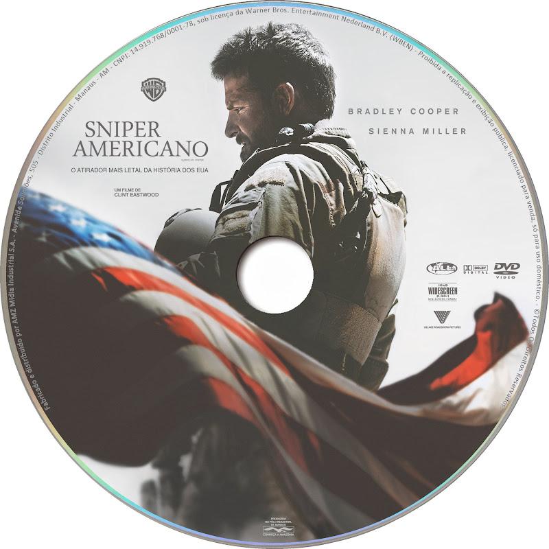Label DVD Sniper Americano