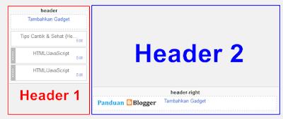 Membuat header 2 kolom di template blogger