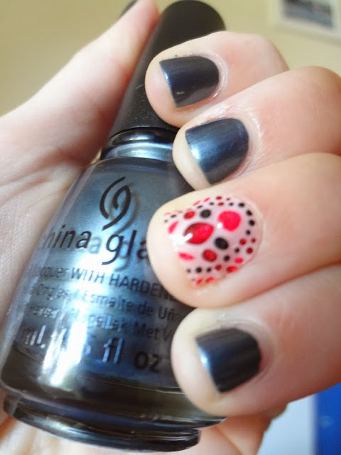 Revlon by Marchesa 3D Jewel Appliqués, accent nail, China Glaze, Kiss My Glass