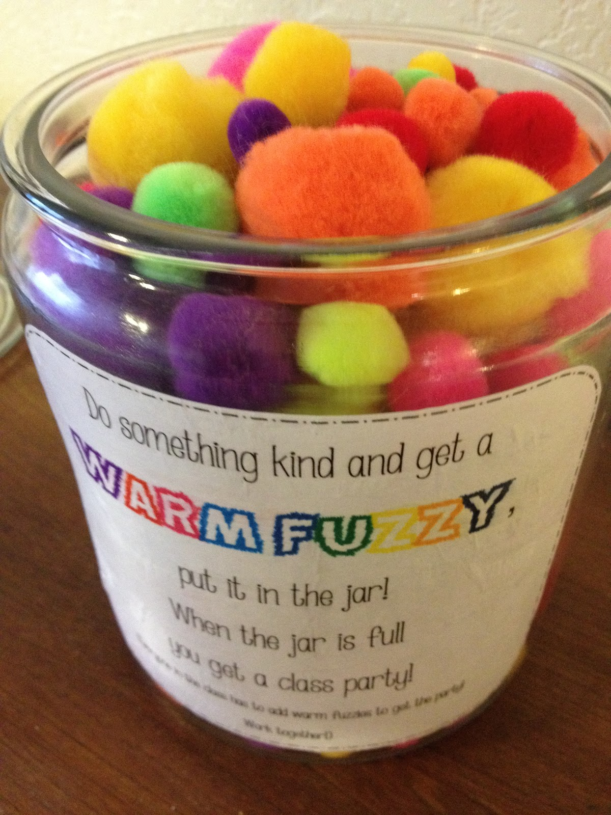 Classroom Party Ideas For Good Behavior ~ A love for teaching warm fuzzy jar