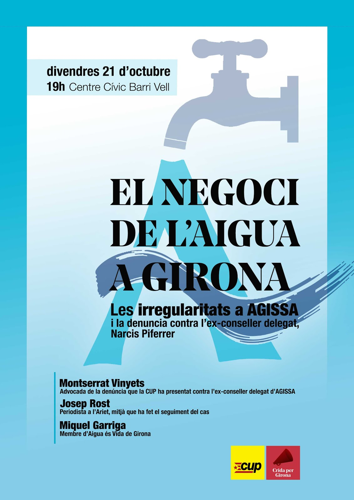 Xerrada 'El negoci de l'aigua a Girona'