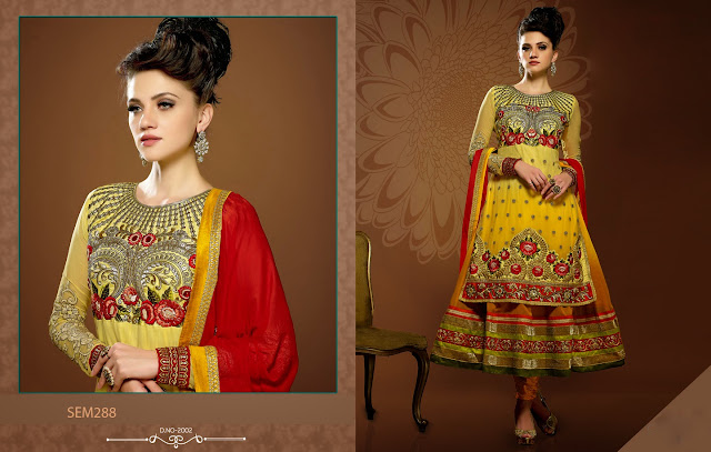 Latest Designer Heavy Embroidered Long Frock Style Anarkali Suit
