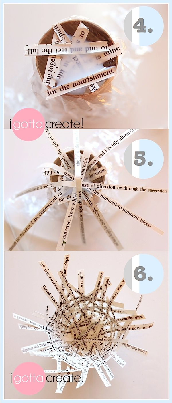 Make Spring nests from strips of newspaper or magazines. | Spring #Nest Tutorial at I Gotta Create!