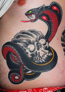 cool venomous black cobra snake tattoos