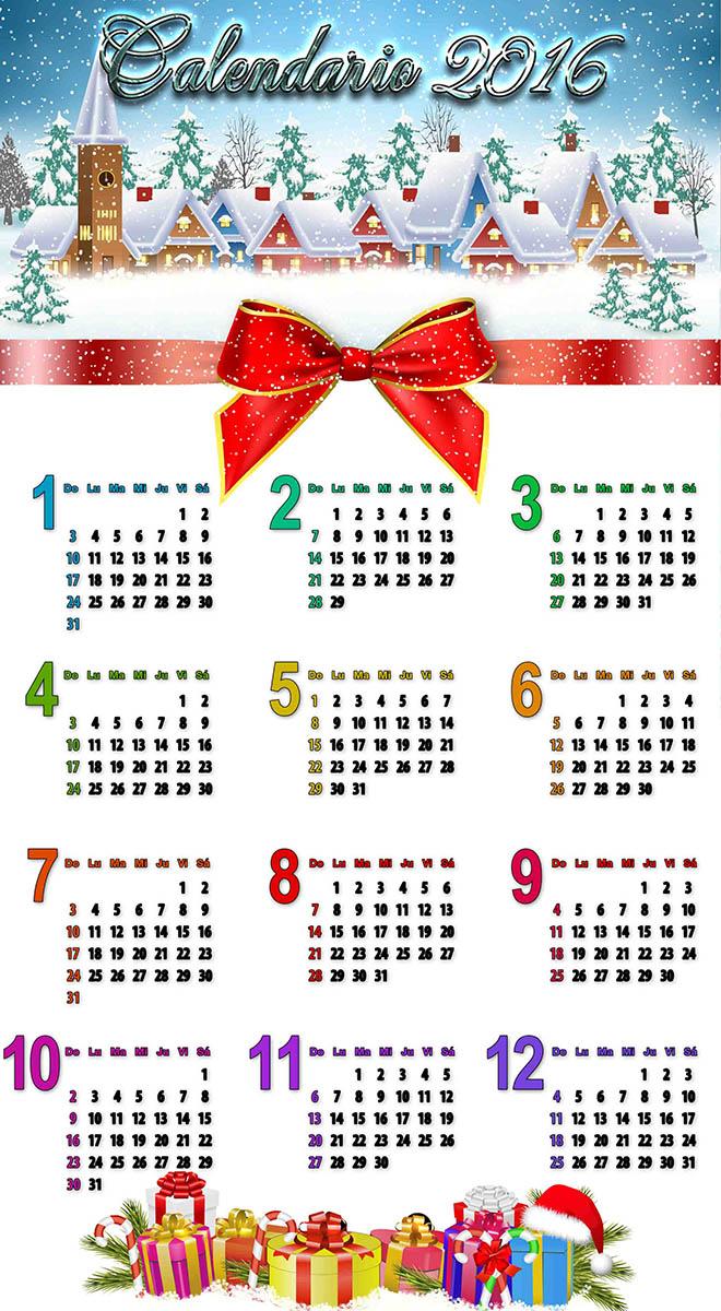 Fantstico Plantilla De Calendario De Navidad Adorno Ejemplo De