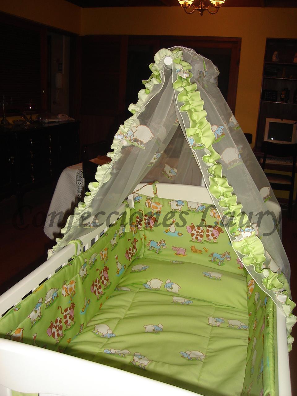 Cortinajes may laury cunas para bebes - Vestir cuna bebe ...