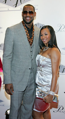 LeBron James with Wife