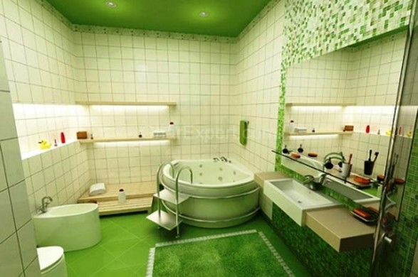 Elegant Whitecornerbathtub_bathroomtiledesigns_bathroom_smallbathroom