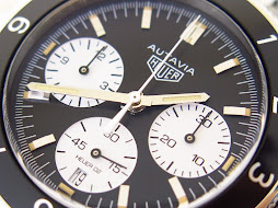 HEUER AUTAVIA HERITAGE BLACK PANDA DIAL - AUTOMATIC CALIBRE 02 - VERY MINT CONDITION