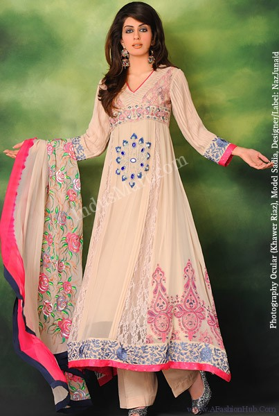anarkali frocks with churidar