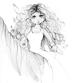 Disney Movie Princesses Merida Coloring Pages