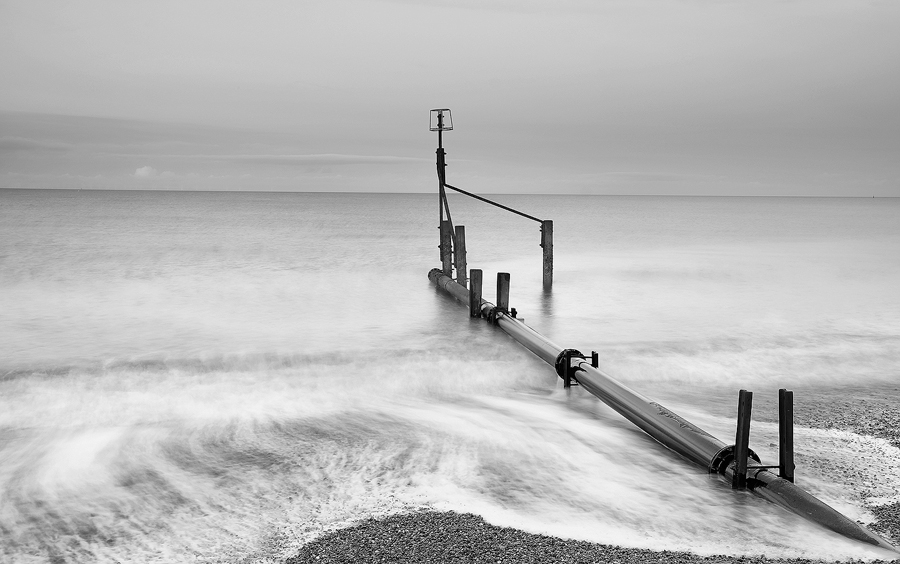 The Outfall pipe at Weybourne. Fuji X-T1 with Fujinon 18-55mm lens