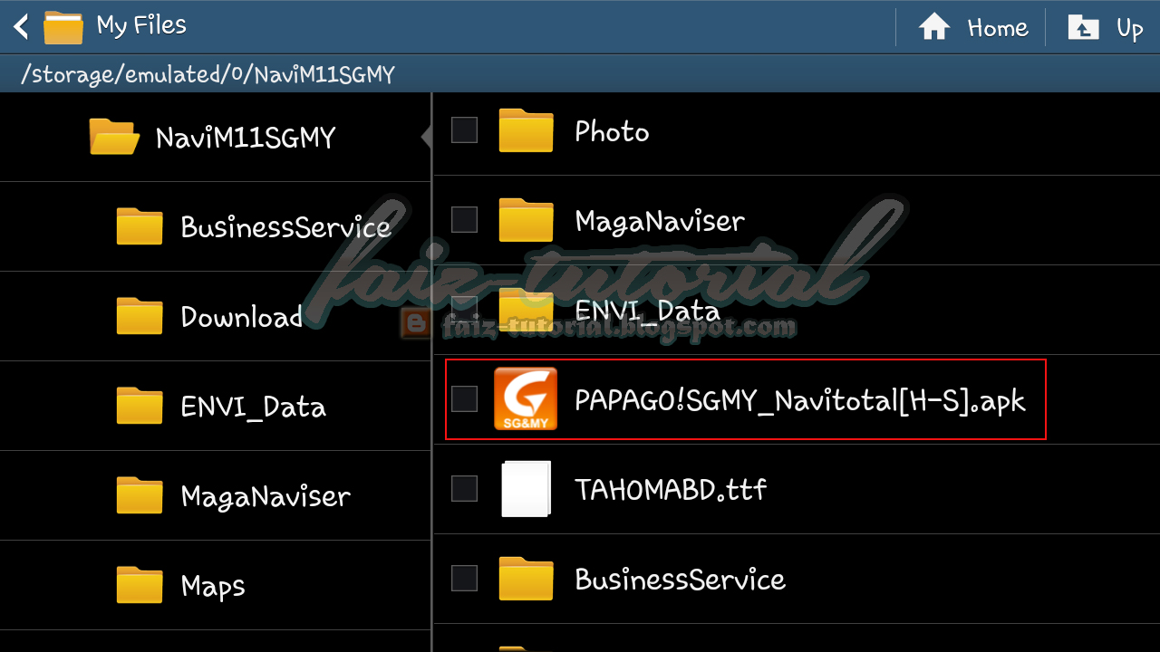 ] Tutorial Install Papago! M11 SGMY Pada Phone Android (Built-in GPS