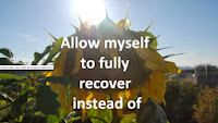 Allow myself to fully recover instead of - sunflower